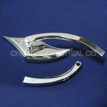【CHEMEX】Zinc Alloy Chrome Plated Motorcycle Rear Mirror for Harley or Chopper Cool & Chic Top Quality